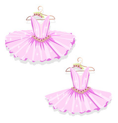 Pink tutu on the hanger vector