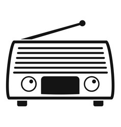 Radio tuner icon simple style vector