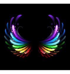 rainbow wings vector image