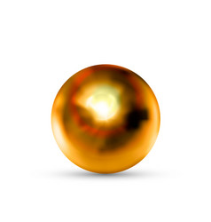realistic glossy bronze sphere with glares and vector image