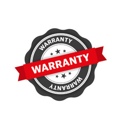 Red warranty stamp flat design check mark icon vector