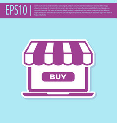 retro purple online shopping concept buy on vector image