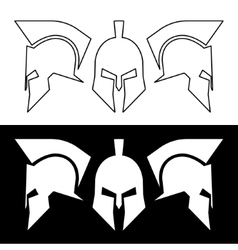 Roman greek helmet vector
