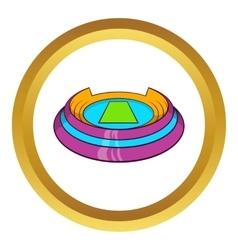 Round sports stadium icon vector