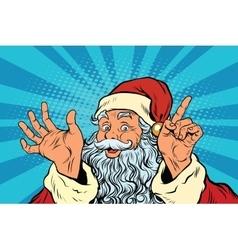 Santa Claus resembles pop art retro vector
