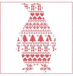 Scandinavian Nordic winter stitching knitting vector