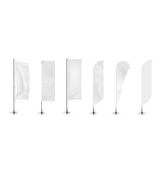 Set of different types banner flag vector