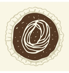 set of stylized figures of pastry cream vector image