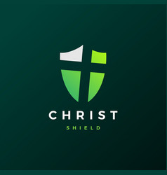 Shield christ logo icon vector