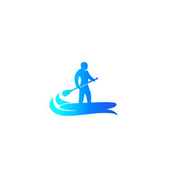 sup stand up paddle surf board icon vector image