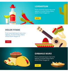tasty mexican traditional cuisine food restaurant vector image