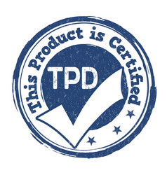 Tdp sign or stamp vector