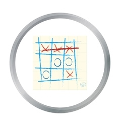 Tic-tac-toe icon in pattern vector