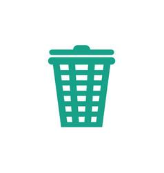 trash bin icon graphic design template vector image