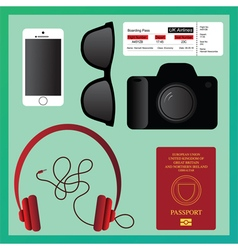 Travel Essentials vector image