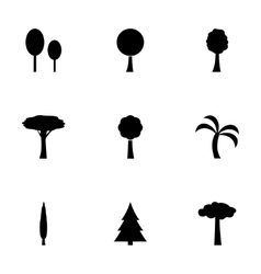 trees icon set vector image