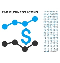Trends Icon with Flat Set vector