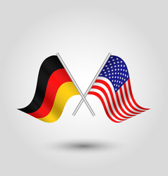 Two crossed german and american flags vector