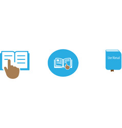 User manual icon on white background vector
