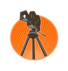 vintage 35mm motion picture camera retro vector image