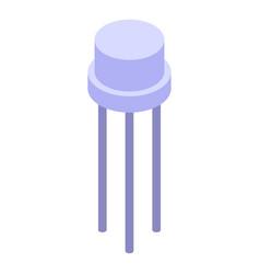 Voltage regulator transistor icon isometric style vector