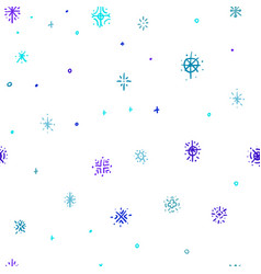 Winter hand drawn snowflakes seamless pattern vector