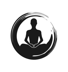 Zen yoga meditation abstract symbol vector