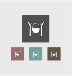 campfire icon simple vector image vector image