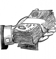 money donation vector image vector image