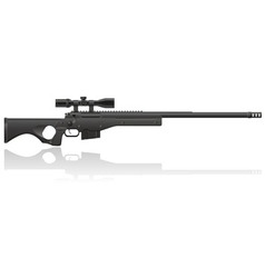 sniper rifle 02 vector image vector image