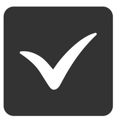 approve box flat icon vector image