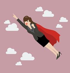 Business woman super hero vector image