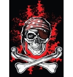 Jolly Roger a pirate symbol with crossed bones vector image