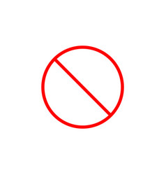 do not entry line icon prohibition sign vector image