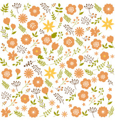 floral seamless pattern background spring design vector image