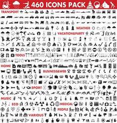 Icons megapack vector image vector image
