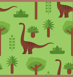 seamless pattern with dinosaurs vector image vector image