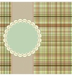 Wallace tartan vintage card background EPS 8 vector image