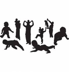 -silhouettes vector image