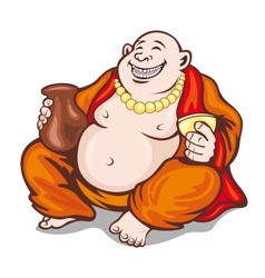 Asian monk vector image