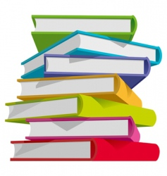 books stack vector image vector image