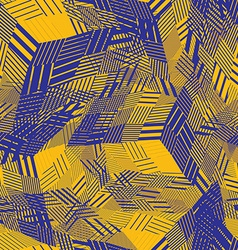 Colorful seamless pattern with parallel lines and vector image vector image