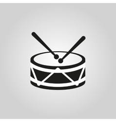 Drum icon design Music and toy symbol web vector image