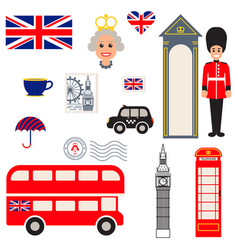 england traditional symbols vector image