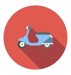 Scooter icon flat style vector image vector image