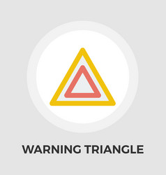 warning triangle flat icon vector image
