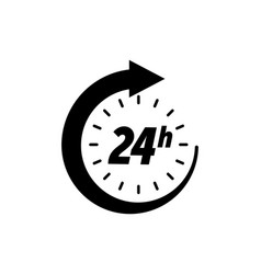 24 hours icon clock open time service or delivery vector