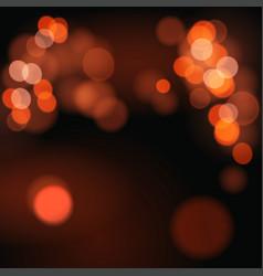 Abstract background with orange bokeh defocused vector