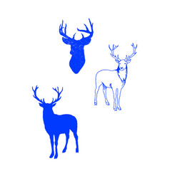 Animal icons set outline set of 25 icons vector