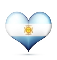 Argentina Heart flag icon vector